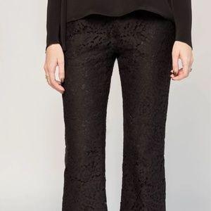 Jenni Kayne Black Lace Flare Pants